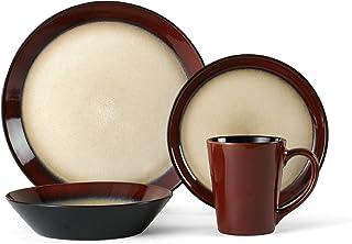 Pfaltzgraff Aria Red 16-Piece Stoneware Dinnerware Set, Service for 4