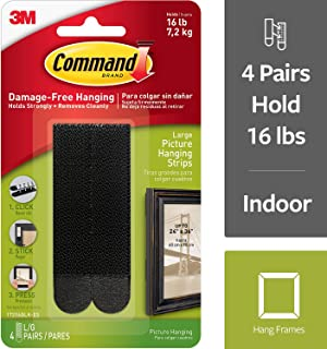 Command Black Picture Hanging Strips, Medium, Decorate Damage-Free (17206BLK)