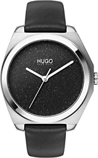 Hugo Boss Women'S Black Dial Black Leather Watch - 1540022