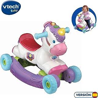 VTech- Unicornio BALANCÍN 2 EN 1, Multicolor, Talla Única