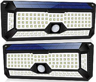 JOYWAY-Blue carbon Solar Lights Motion Sensor Solar Powered Light - 136 LED Outdoor Security Lighting for Porch, Garden, D...