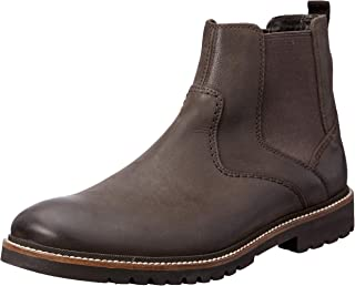 ROCKPORT Men's Formal Marshall Chelsea Boot Dark Bitter Uniform Dress Shoes, Dark Bitter Chocolate