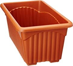 Easy Gardening Royal 2 Rectangle Pots - Terracotta Color Planter (Pack of Six)