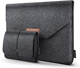 HOMIEE 13-13.3 Inch Felt Laptop Sleeve Portable MacBook Case for MacBook Pro 2016-2018, MacBook Air 2017-2018, 12.9