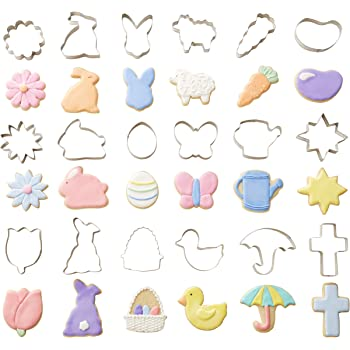 Daisy Bunny Duckling Chick Butterfly R/&M International 1957//B Mini Spring Cookie Cutters Tulip 6-Piece Set R /& M Industries