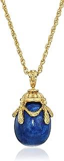 lapis lazuli gold pendant