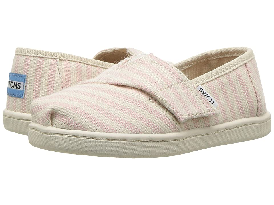TOMS Kids Alpargata (Infant/Toddler/Little Kid) (Blossom Woven Stripe) Girl
