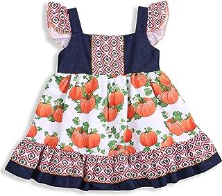 HappyMA Toddler Kids Baby Girls Summer Dress Off-Shoulder Skirt Floral Print One-Piece Clothes Set