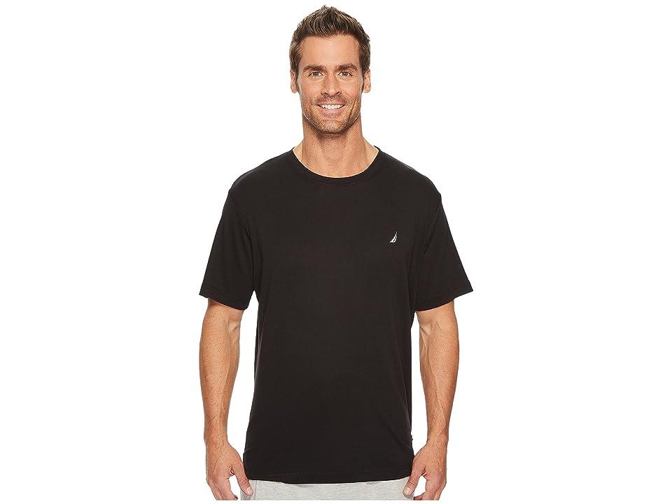 Nautica Knit Sleep T-Shirt (True Black) Men