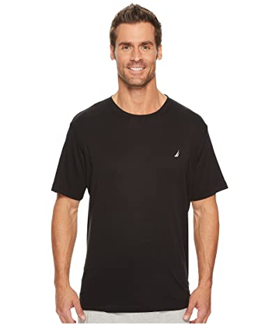 Nautica Knit Sleep T-Shirt (True Black) Men