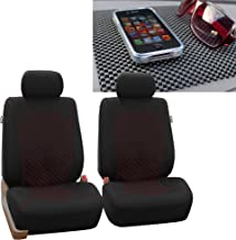 FH Group FB066102 Ornate Diamond Stitching Car Seat Covers, Red/Black FH1002 Non-Slip Dash Pad- Fit Most Car, Truck, SUV, or Van