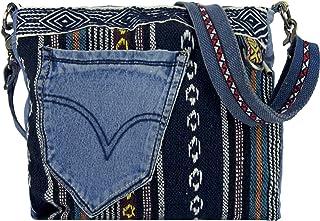 Sunsa Damen Taschen Umhängetasche Handtasche Canvas & Jeans. Große Boho Crossbody Tasche/bag Schultertasche, Geschenkideen für Frauen/Mädchen nachhaltige Produkte 52372