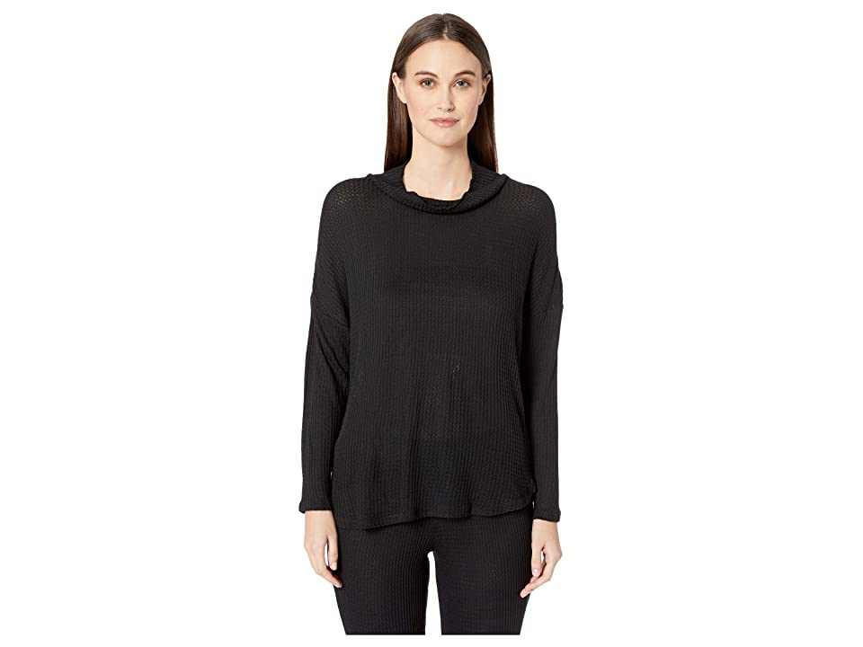Eberjey Ula The Cowl Neck Top (Black) Women