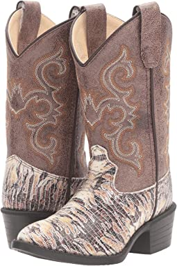 Old West Kids Boots - J Toe Lizard Print (Toddler/Little Kid)