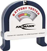 ANSMANN Analogue Battery Tester [Pack of 1] Pocket-Sized Battery Health Check for AA, AAA, C, D, 9V Blocks and Coin Cells...