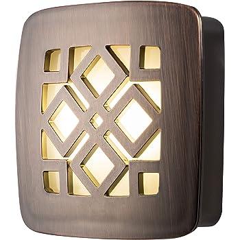 GE Oil Rubbed Bronze Diamond LED Night Light, Plug-in, Dusk to Dawn, UL-Listed, Home Décor, Ideal for Bedroom, Nursery, Bathroom, Kitchen, Hallway, 25436
