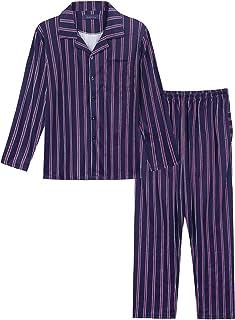 Klassischer Herren Shorty Pyjama kurzarm gewebt mit durchknöpfbarem Oberteil