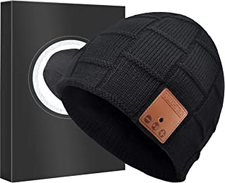 Upgraded Bluetooth Beanie Hat Headphones Wireless Headset Winter Music Speaker Hat Knit Running Cap with Stereo Speakers & Mic Unique Christmas Tech Gifts for Women Mom Her Men Teens Boys Girls