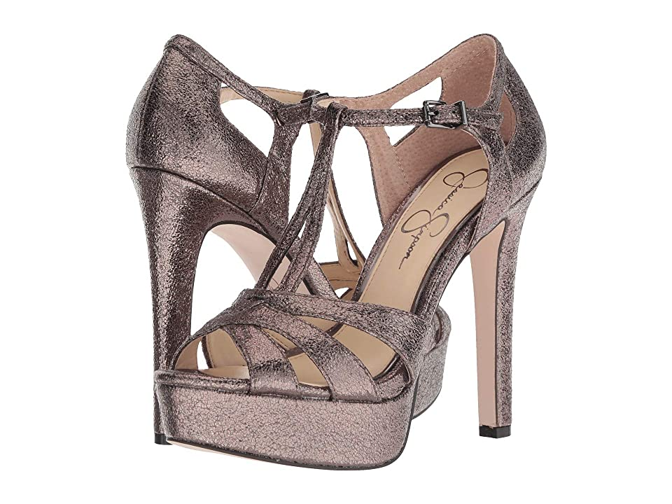Jessica Simpson Bryanne (Titanium Shrunken Metallic) High Heels