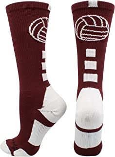 Volleyball Logo Crew Socks (Multiple Colors)