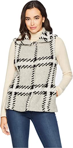 Black and White Oatmeal Plaid Vest
