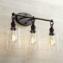 Cloverly Industrial Rustic Wall Light LED Bronze Hardwired 21 3/4