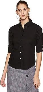Krave Women's Solid Regular Full Sleeve Shirt