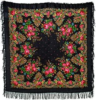 Pavlovo Posad Shawl Manufactory 100% Woolen Shawl Wool Fringe 1219-18