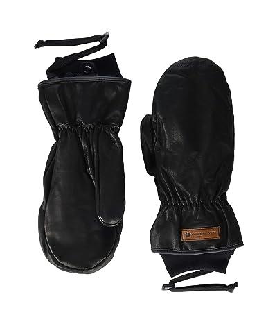 Obermeyer Leather Mitten (Black) Ski Gloves