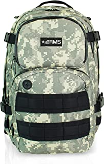 Carry On Backpack - Compact Multipurpose Daypack for Travel, Camping, Hunting, Hiking - Military Style Backpacks for Men, Women & Students - Fits Up to 13 inch Laptop or Notebook (Camo Style)