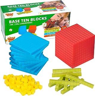 MB One Base 10 Blocks – 121 pcs Math Manipulatives – Base Ten Blocks for Math – Place Value Blocks– Fun and Engaging Math ...