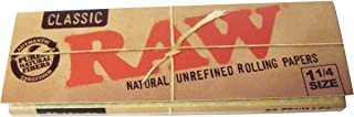 RAW / ロウ classic natural unrefined rolling papers 1 1/4Size 78mm ミディアムサイズ ロウ ペーパー [並行輸入品]
