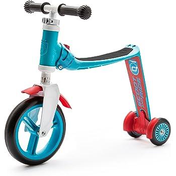 スクート&ライド ハイウェイベビープラス ブルー/レッド 工具不要で切替できるキッズスクーター⇔ペダルなし自転車の2wayスクーター