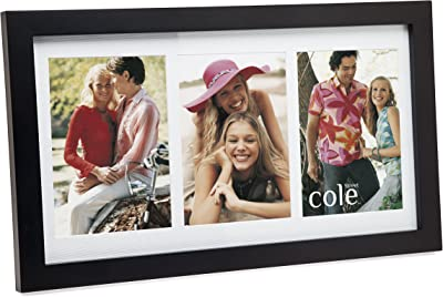 Erwinshy 3 Opening 4x6 Black Wood Collage Picture Frame
