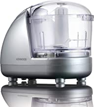 Kenwood CH185 Mini Chopper,0.35L dishwasher safe bowl, 2 speeds, rubber feet for stability, 300W, Silver