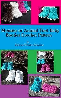 Best monster baby booties crochet pattern Reviews