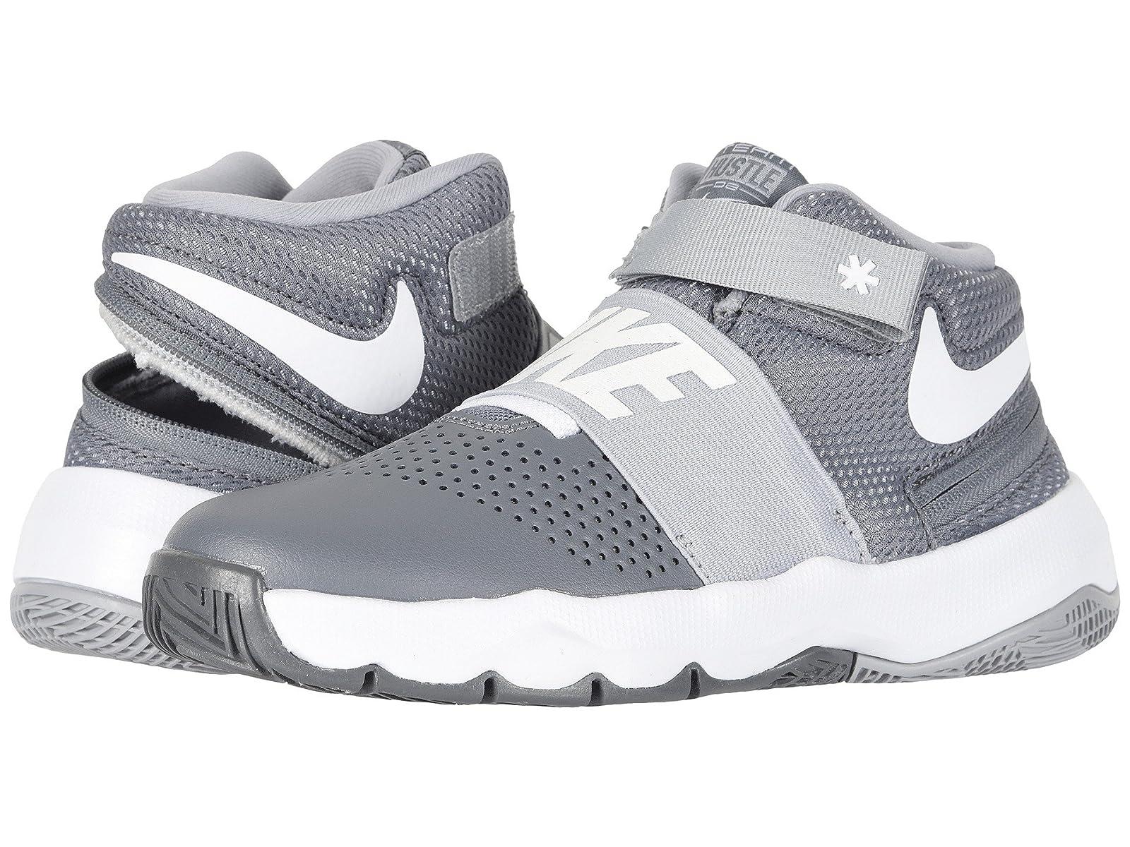 Nike Kids Team Hustle D8 FlyEase (Big Kid)Atmospheric grades have affordable shoes