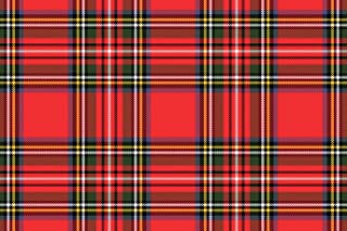 Rustic Pearl Collection Christmas Paper Place Mats in Classic Red Tartan Plaid, 25 Sheets PER PAD