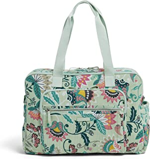 Vera Bradley womens Iconic Deluxe Weekender Travel Bag, Signature Cotton