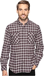 Men's Long Sleeve Woven Gonzalo Plaid Crimson Button-up Shirt