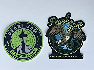 Pearl Jam seattle sticker set 2018 tour safeco field the home shows 2 different