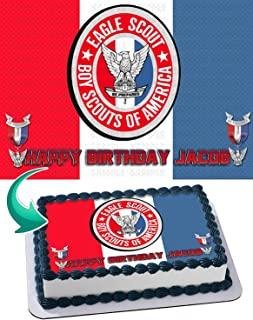 Eagle Scout Edible Image Cake Topper Party Personalized 1/4 Sheet