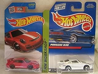 Hot Wheels Porsche 930 & Porsche 911 GT3 RS Die Cast 1/64 Scale 2 Car Bundle!