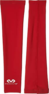 Mcdavid Compression Arm Sleeves Pair - 6566Usr-Sc, Small Red