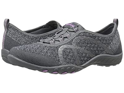 SKECHERS Breathe-Easy Fortuneknit (Charcoal) Women