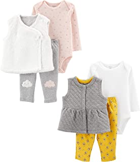Baby Girls 2-Pack 3-Piece Vest Set