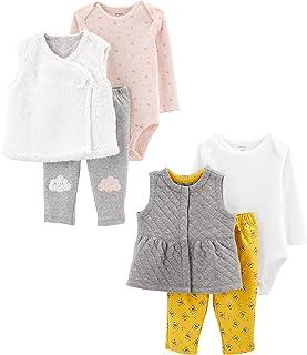 Baby Girls 2-Pack 3-Piece Vest Set