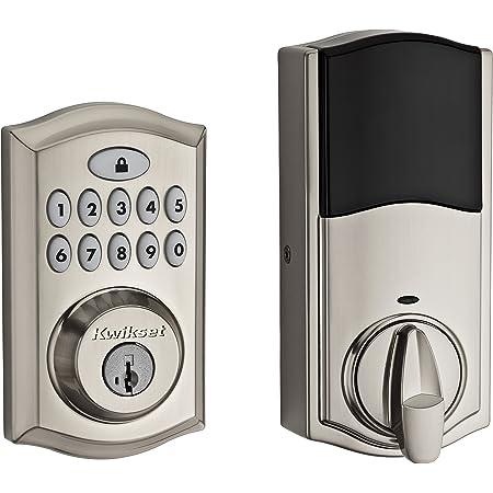 Kwikset 99130-002 SmartCode 913 Non-Connected Keyless Entry Electronic Keypad Deadbolt Door Lock Featuring SmartKey Security, Satin Nickel