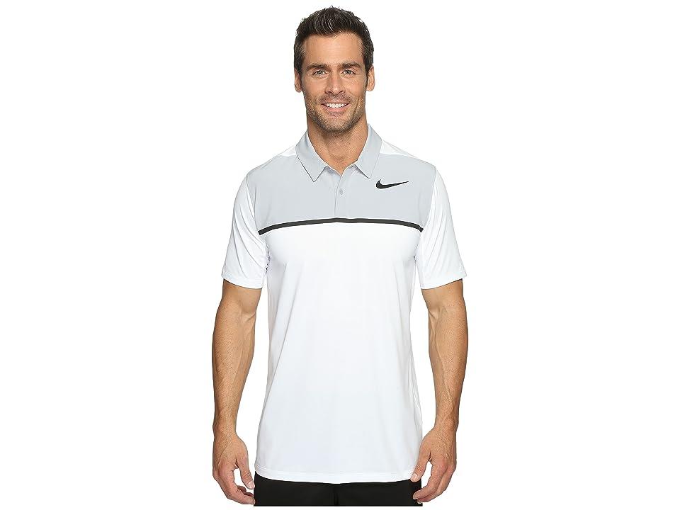 Nike Golf Mobility Precision Polo (White/Wolf Grey/Black/Black) Men