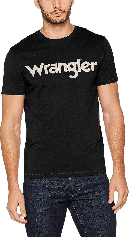 Wrangler Logo tee Camiseta, Negro (Black 01), XXX-Large para ...